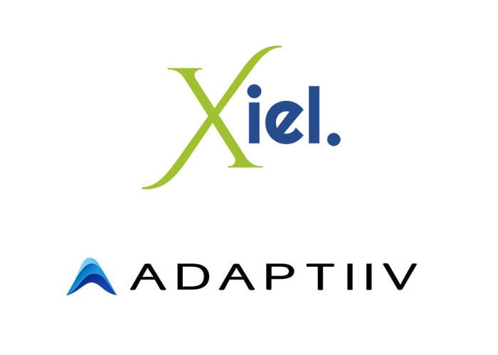 Xiel limited and Adaptiiv logos