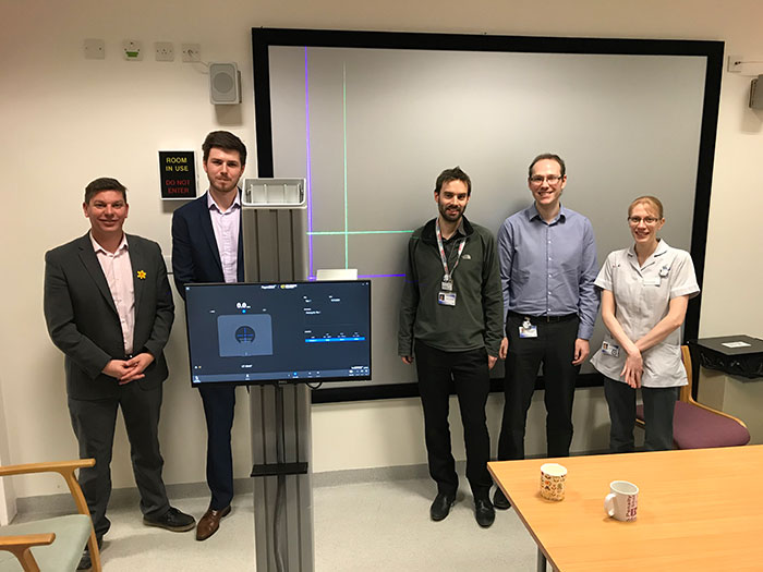 Leicester Royal Infirmary Radiotherapy team with Xeil Limited representatives